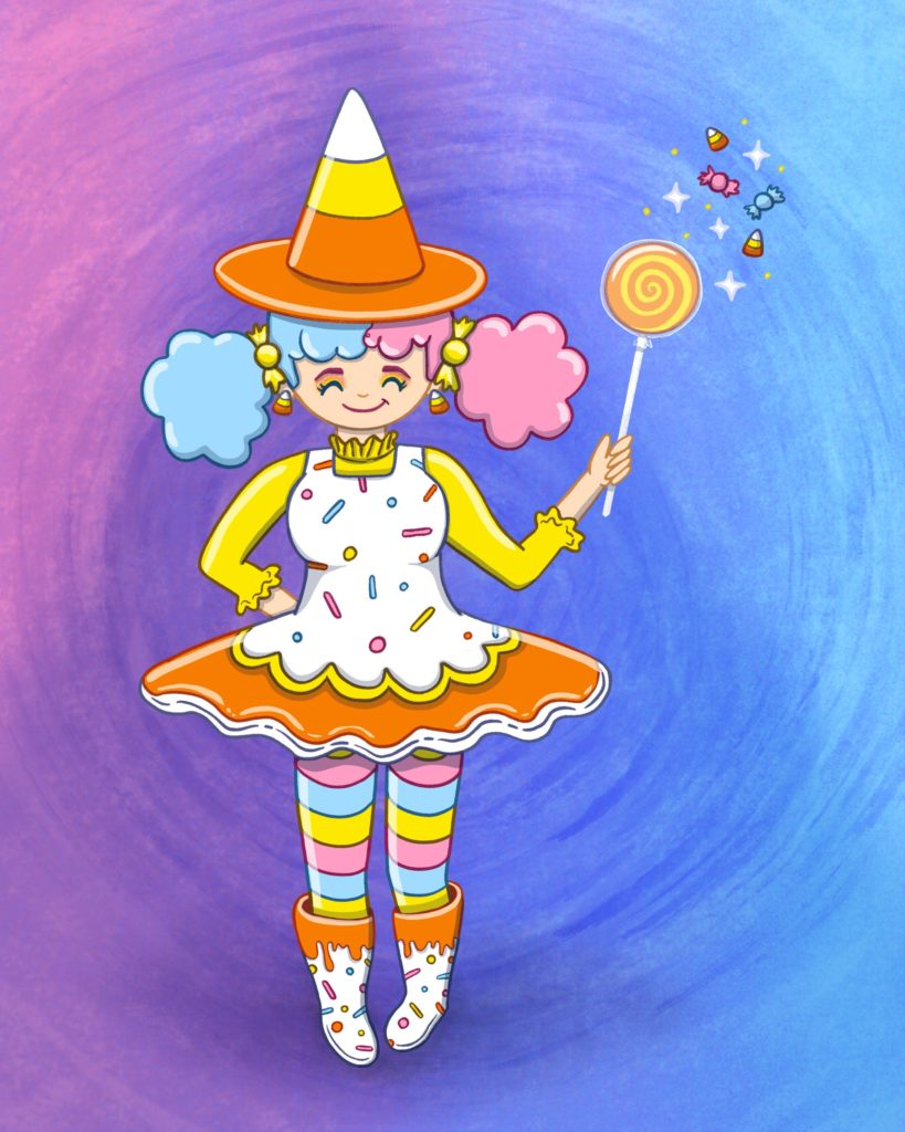 magical candy witch character