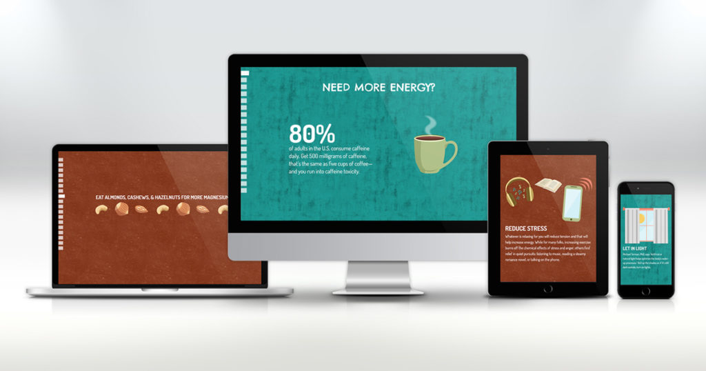 get more energy website design on devices